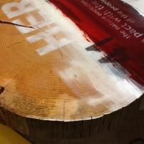 Tavolo arredo, legno resinato