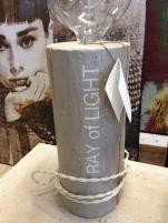 Luceppola n.35 effetto cemento con scritta