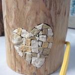 Luceppola personalizzata con intarsio a mosaico
